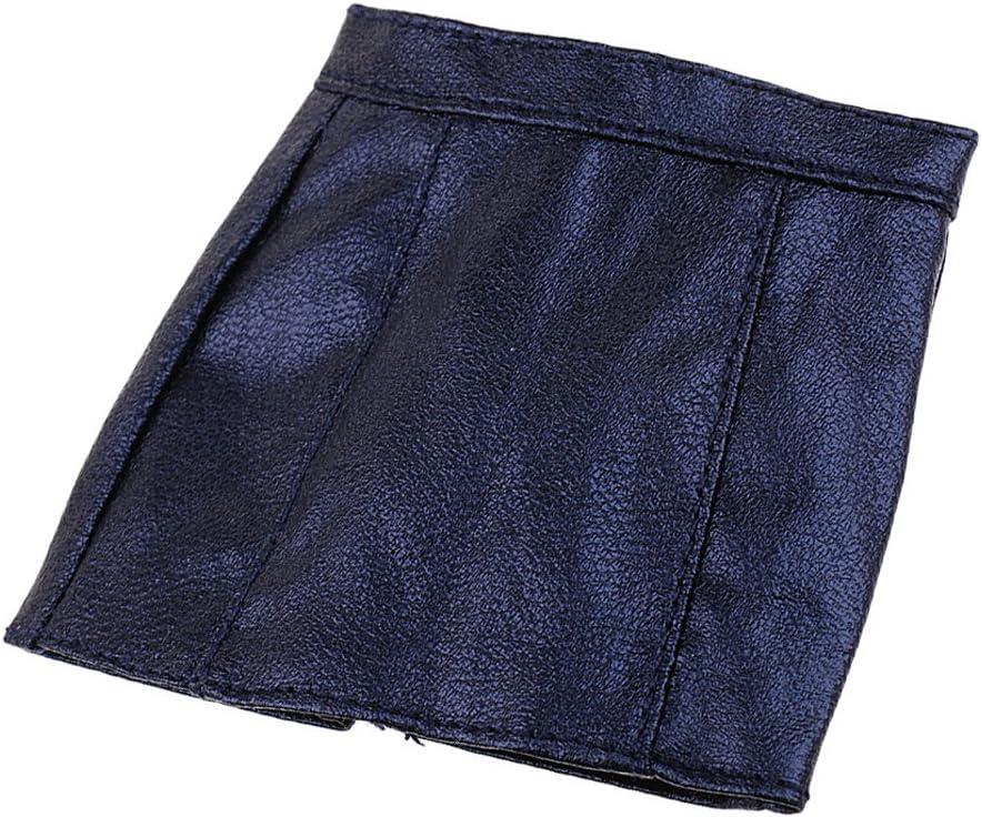 Mini Juguete Falda de PU Accesorios para 12 '' Figurita Femenina de Acción Muñeca Modelo - Azul Oscuro