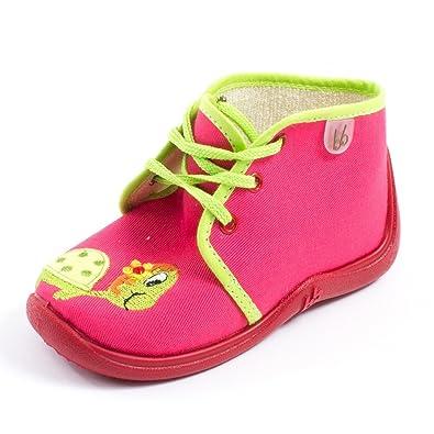 f54d6653cd844 Babybotte Chaussons Fille Rouge MAMOUT  Amazon.fr  Chaussures et Sacs