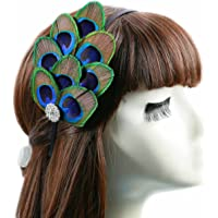 Aukmla Fascinator Feather Headband, Headpieces for Fancy Party
