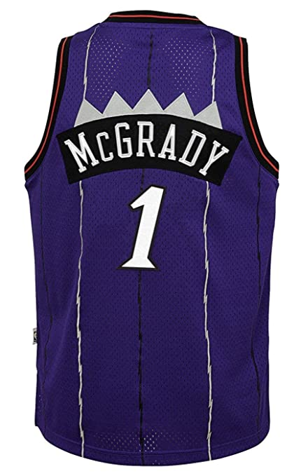 reputable site c7d11 7f191 Amazon.com : Tracy McGrady Toronto Raptors Purple #1 Kids ...