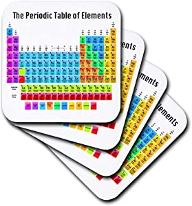 3dRose The Periodic Table of Elements - Soft Coasters, Set of 4 (CST_108318_1)