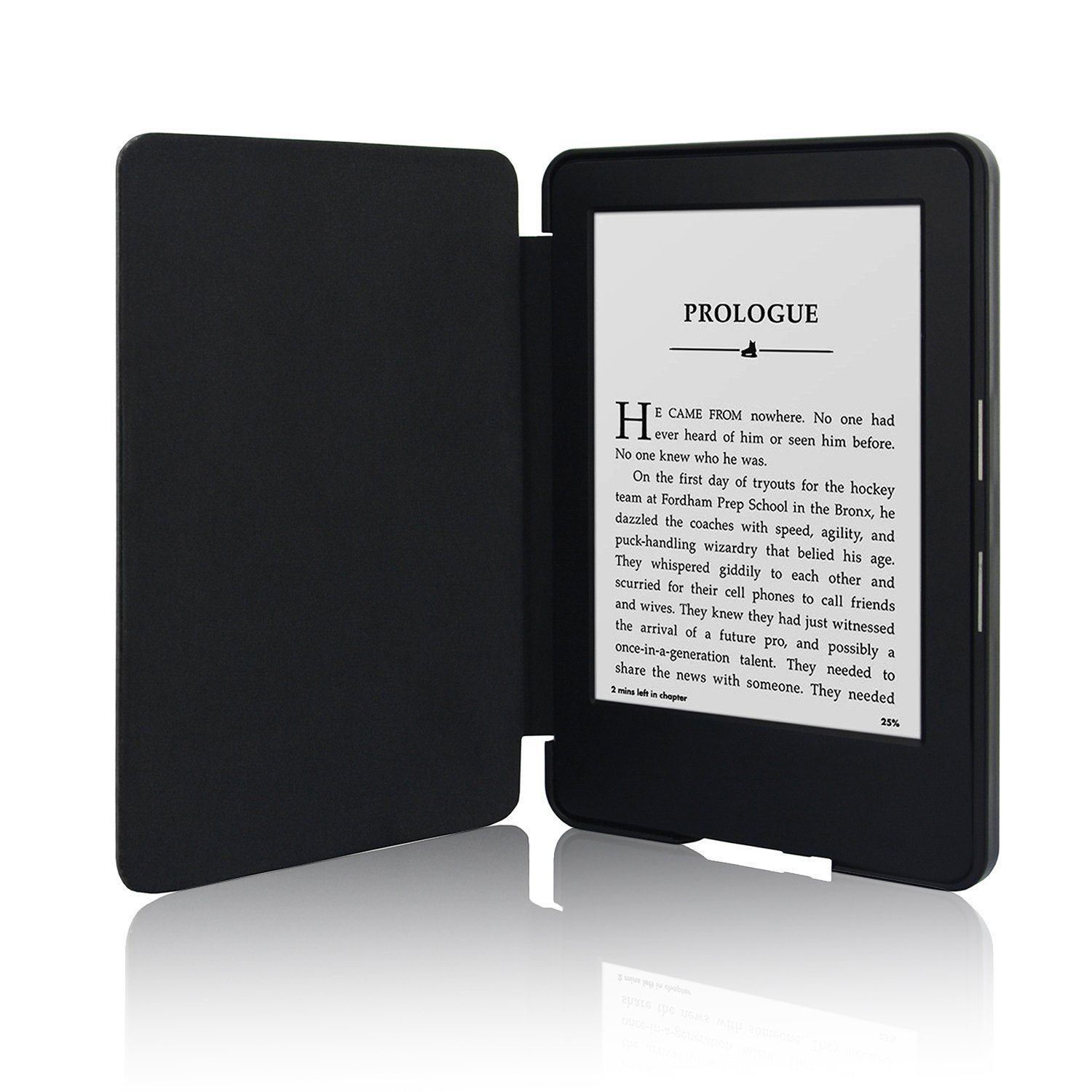 Mabely The Thinnest and Lightest Leather for Protective Cover for Kindle (7th Generation 2014 Model) with Auto Sleep/ Wake Feature(Black)