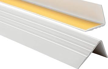 DunkelBraun 0,90m PVC Treppenkantenprofil Selbstklebend Winkelprofil Anti-Rutsch Treppenkante 50x40mm