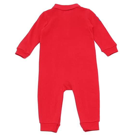 Ralph Lauren 3766V tutina bimbo red cotton rompers coverall boy kid [9 MONTHS]: Amazon.es: Ropa y accesorios
