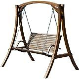ASS Design Hollywoodschaukel Gartenschaukel Hollywood Schaukel aus Holz Lärche Modell Rio-OD von