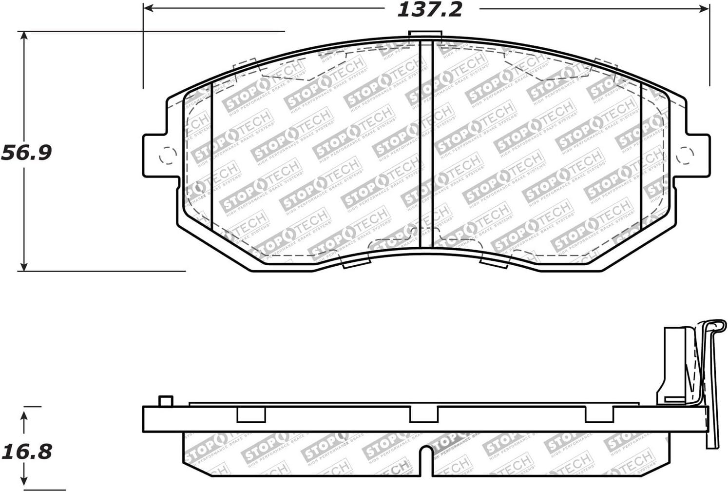 StopTech 301.09390 Premium Brake Pad