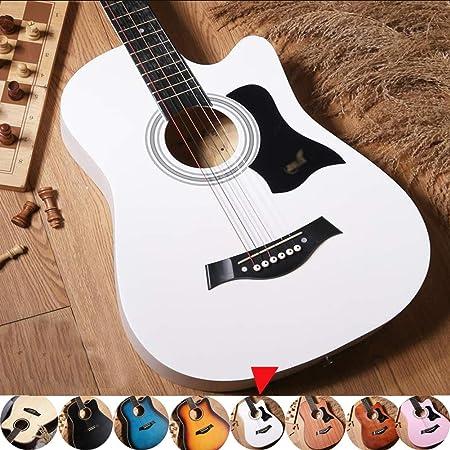 Guitarra Acústica Clasica Madera Maciza Principiante Corte Acorazado Tono Completo Instrumento Musical con Estuche A Prueba De Agua, Correa, Sintonizador Y Recoger,8 Colores Gdming: Amazon.es: Hogar