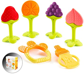 Silicone Baby Infant Toddler Teething Toys BPA Free Chewing Teether Gift DP