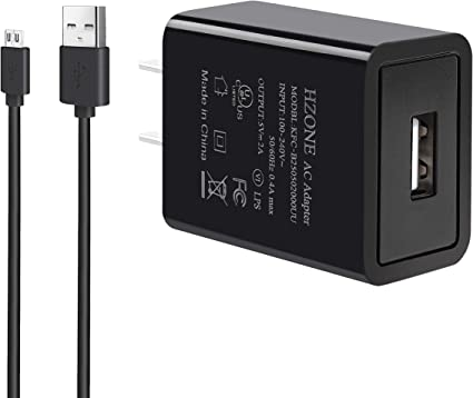 Kindle Fire Fast Charger, Hzone Ac Adapter 2A Rapid Charger With 5.0 Ul Listed