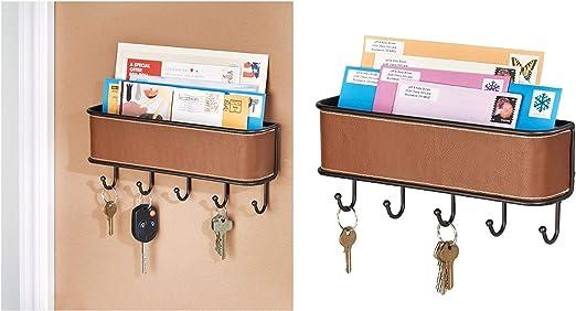 Mail Letter Holder Key Rack Organizer hook Entryway Kitchen Wall mount hanger