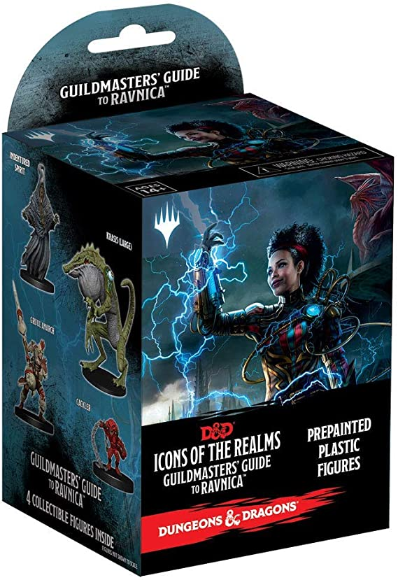 WizKids Dungeons & Dragons Fantasy Miniatures: Icons of The Realms Set 10 Guildmasters` Guide to Ravnica Booster Brick (1 Box): Amazon.es: Juguetes y juegos
