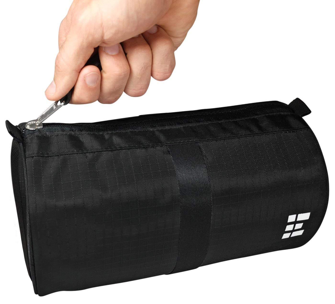 Zero Grid Travel Dopp Bag - Toiletry Kit for Men, Black