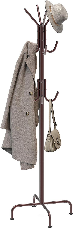 Bronze SimpleHouseware Standing Coat and Hat Hanger Organizer Rack
