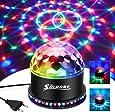 LED-diskokula, SOLMORE 51LEDs 12W 7 färger diskolampa festlampa RGB ljuseffekt scenbelysning festljusdekoration