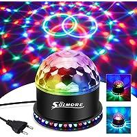 LED Discobal, SOLMORE 51LEDs 12W 7 kleuren discolamp feestverlichting RGB-lichteffect podiumverlichting feestverlichting…