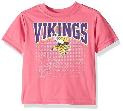 best website 5f93b 1b18c NFL Minnesota Vikings Baby-Girls Short-Sleeve Tee, Pink, 12 Months
