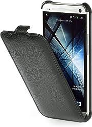 StilGut Slim Case, custodia apribile per HTC One, nero