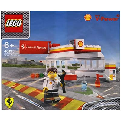 40195 Lego Shell V-Power Ferrari Exclusive Sealed by LEGO Stazione Shell bolsa de polietileno: Juguetes y juegos