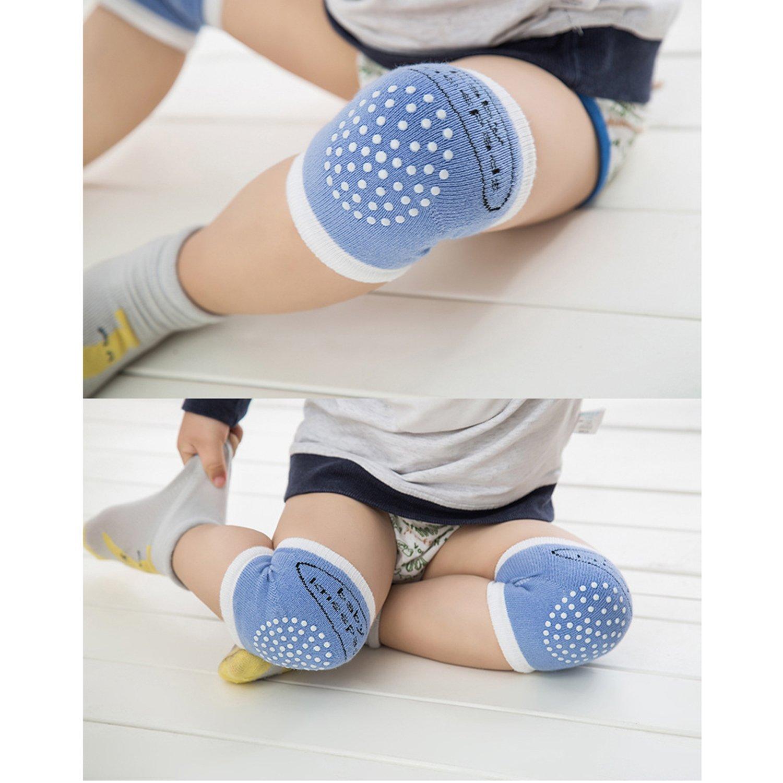 XPX Garment Summer Thin Cotton 5 Pairs Baby Knee Pads Crawling Knee Socks Anti-skip Kneepad Protector