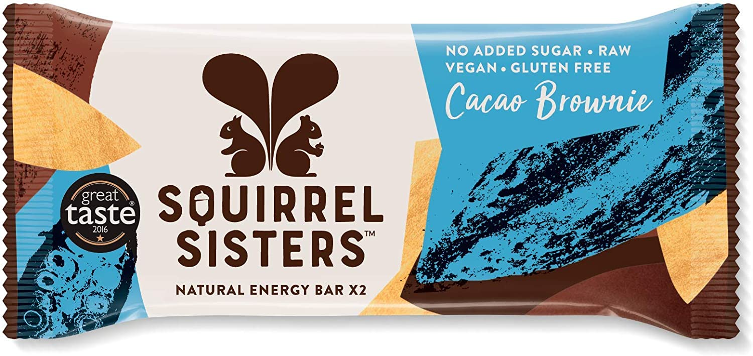 Squirrel Sisters Raw Snack Bars – Cacao Brownie (16 x 40g)