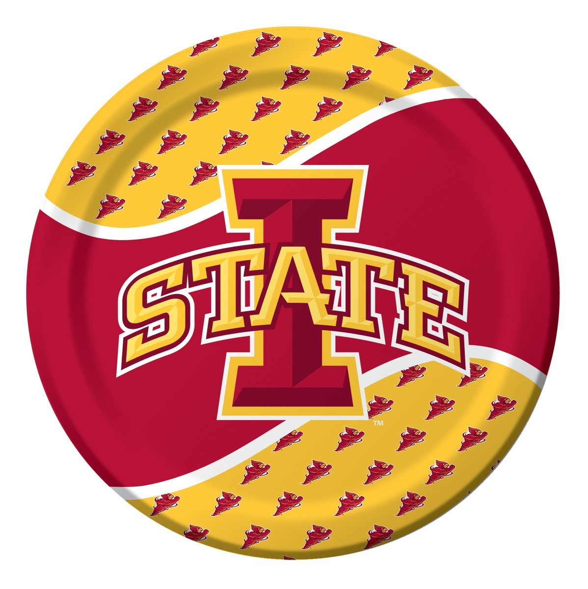 8-Count Paper Dinner Plates, Iowa State Cyclones