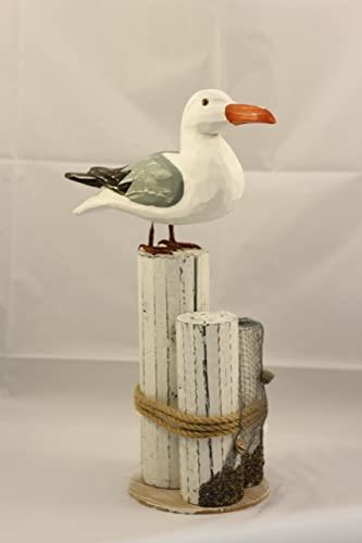 HS Seagull on Piling Decoration