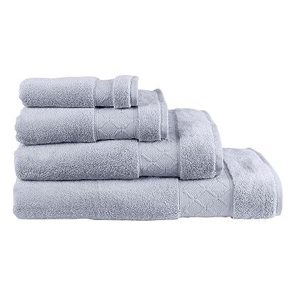 Le Jacquard Francais 22890 toalla de baño Mineral algodón gris fieltro 70 x 140 cm