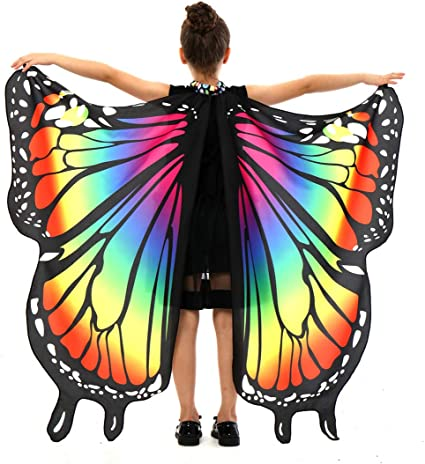 Colorful Wings Costume ~ Halloween or Play Fairy Wings