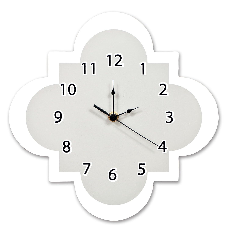 Trend Lab Quatrefoil Wall Clock, Gray 100916
