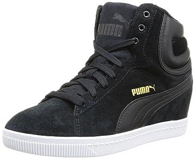 Puma Puma Vikky Wedge, Sneakers Hautes femme Noir (black
