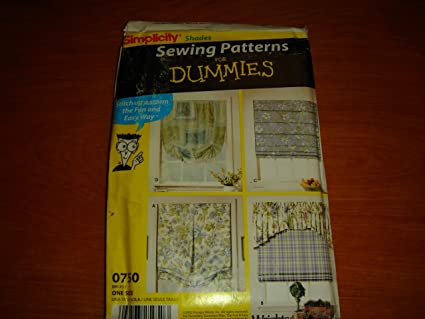 Amazon Shades Sewing Patterns For Dummies Simplicity