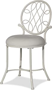 Hillsdale Furniture O'Malley Vanity Stool, White