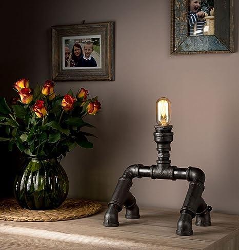 Lámparas de Mesa para Dormitorio con tubo de luz Steampunk ...