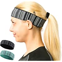 samfavo Reflective Stripe Unisex Elastic Wicking Sport Night Running Yoga Fitness Exercise Sweat Headband