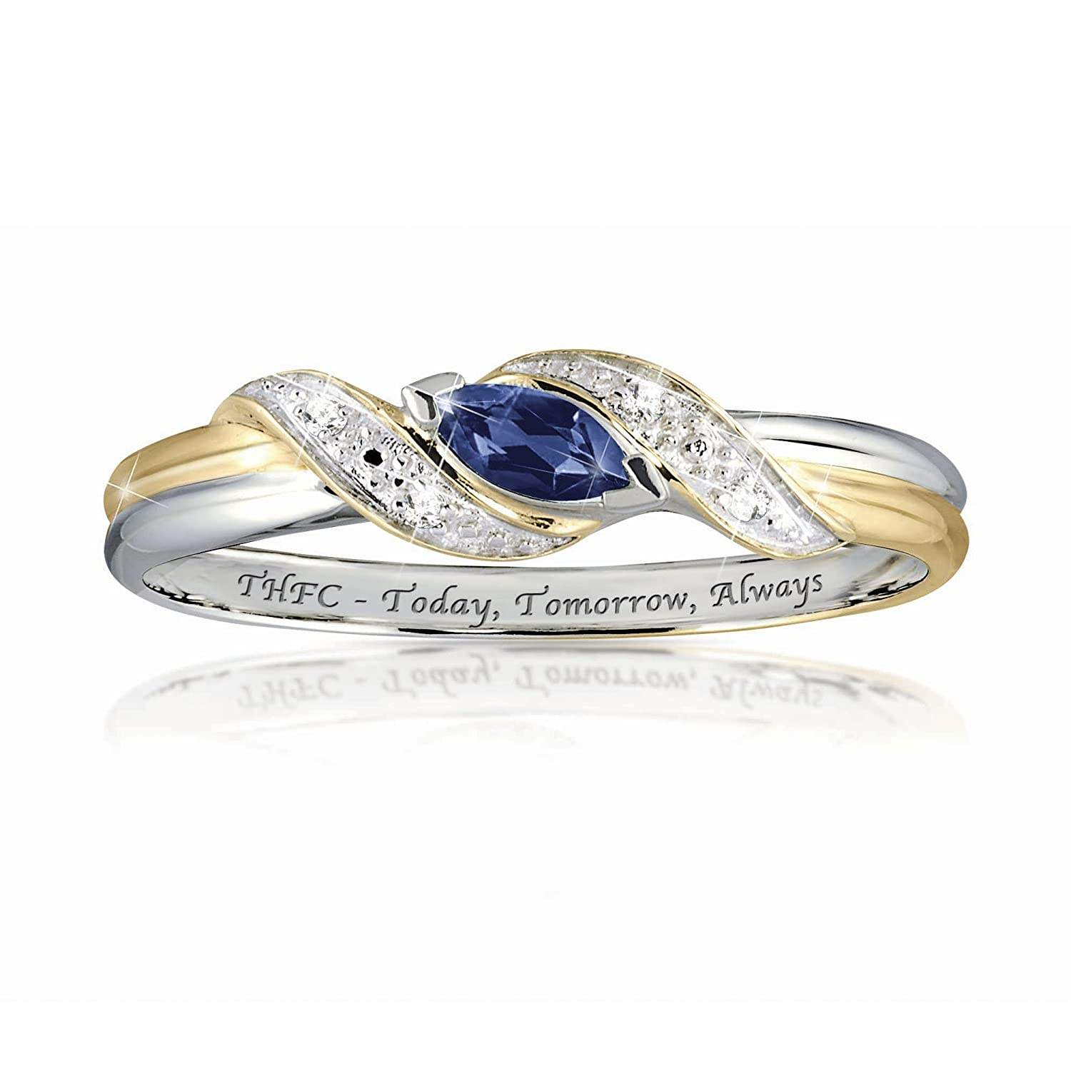 8a1a709a4c97e3 Tottenham Hotspur' Ladies Sapphire Ring By The Bradford Exchange:  Amazon.co.uk: Jewellery