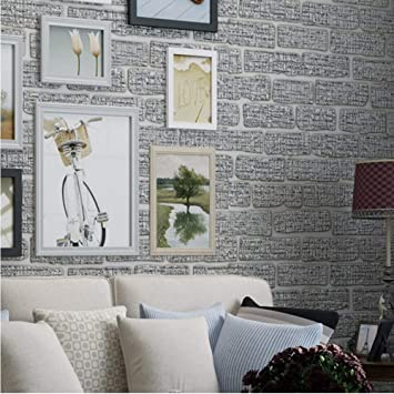 Amazon Com Sssxka Mediterranean 3d Embossed Brick Wall