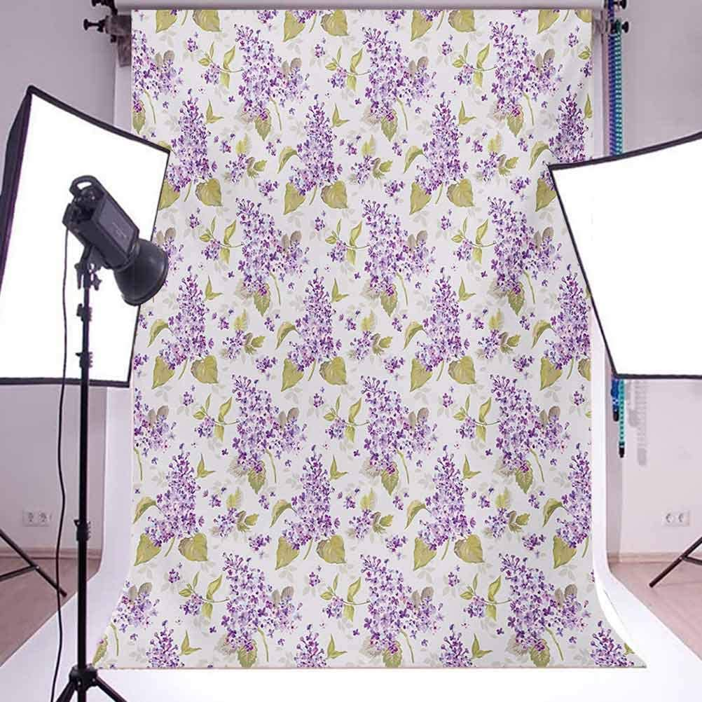 Mauve 6.5x10 FT Backdrop Photographers,Retro Style Floral Petals Love Natural Beauty Icons Nostalgic Soft Plants Artwork Background for Baby Shower Bridal Wedding Studio Photography Pictures