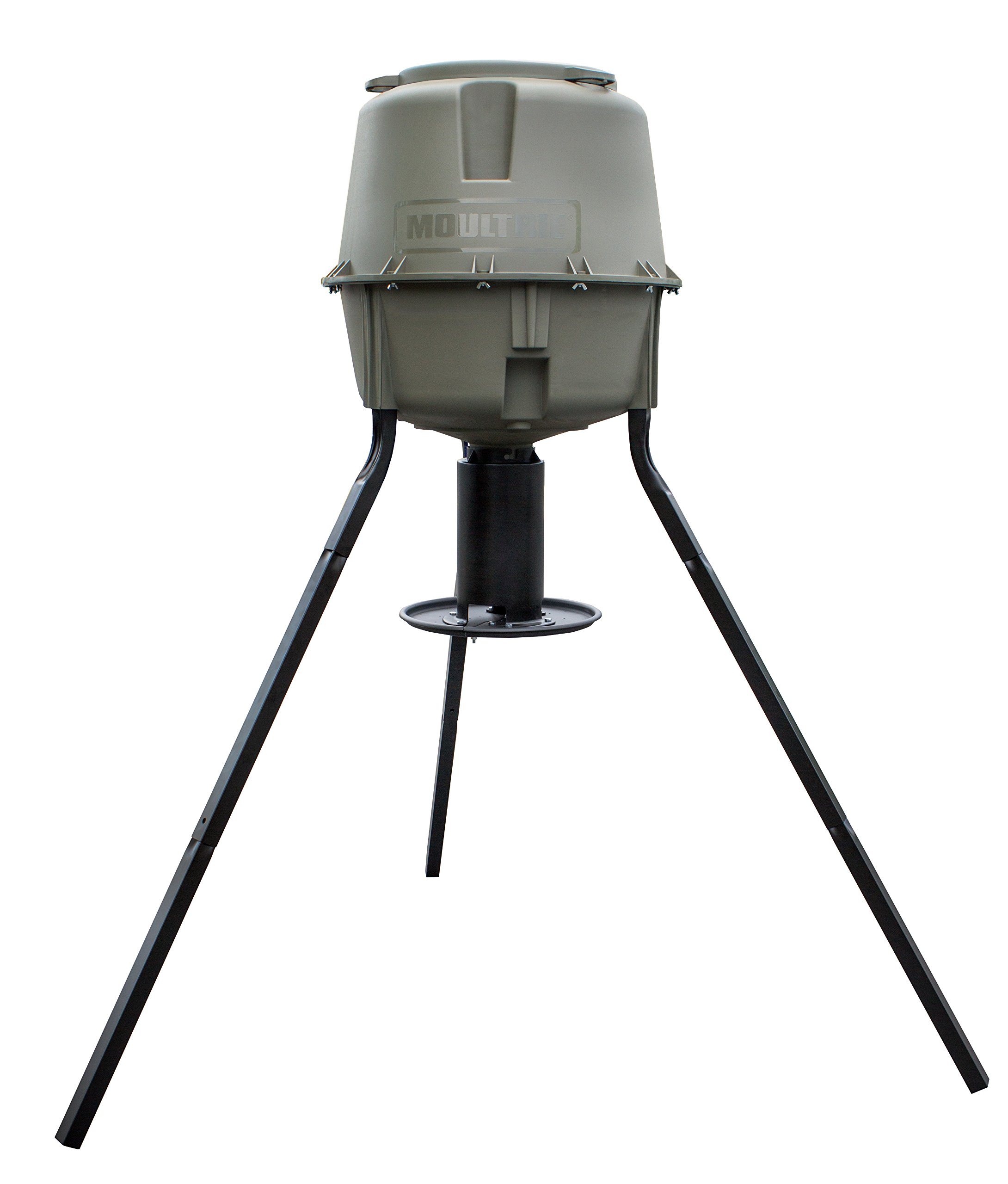 Moultrie Dinner Plate Deer Feeder | 30-Gallon | Gravity Feed |3 Camera Mounts | 200 lb. Capacity