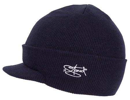 b704f7ac5519 2Stoned Mütze mit Schirm Visor Beanie Cap Deluxe, One-Size Damen und Herren,