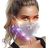 Fstrend Sparkly Rhinestone Mesh Mask Crystal Masquerade Face Masks