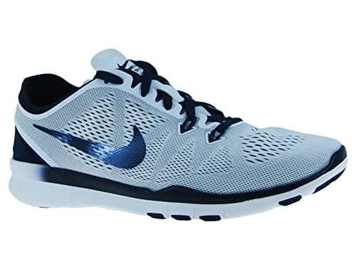 quality design 2a473 9dd3f Nike Free 5.0 TR Fit 5 Women s Cross Training Shoes (5, WHITE MIDNIGHT