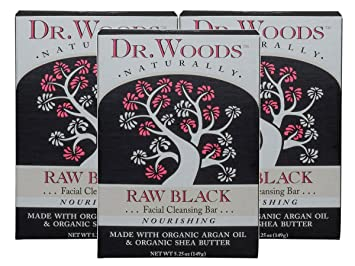 100% Natural Raw Black Facial Cleansing Bar - 5.25 oz. by Dr. Woods (pack of 6) New 1MHz Ultrasonic Ultrasound Anti Aging Skin Spa Rejuvenation Beauty Device