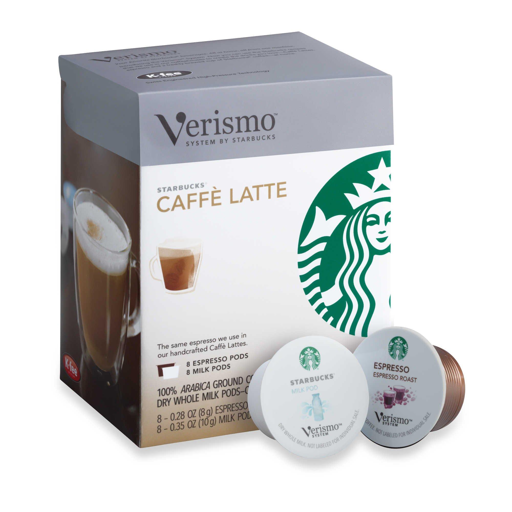 Starbucks Verismo Caffe Latte Pods