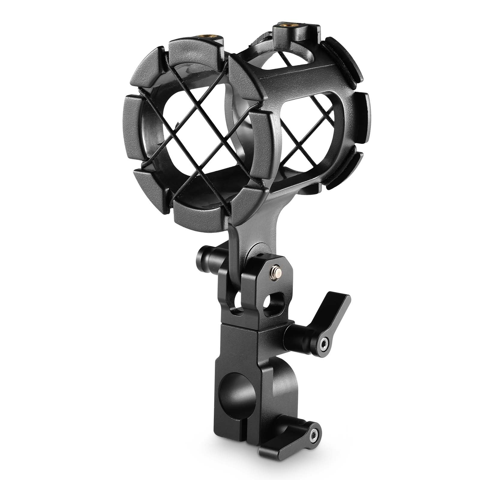 SmallRig 360 Degree Universal Camera Microphone Mount Suspension Shock Mount with 15mm Rod Clamp - 1802