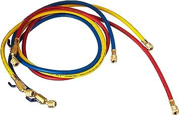 Pack Yellow Jacket 29985 1//4 Ball Valve 60 Charging Hoses 5-