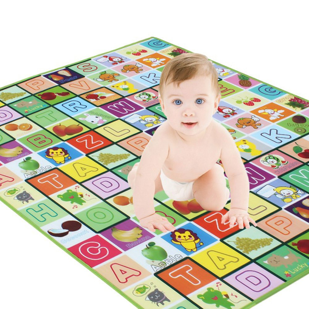 78X70X0.2 Baby Kid Toddler Play Crawl Mat Carpet Playmat Foam Blanket Rug for in Or Out Doors