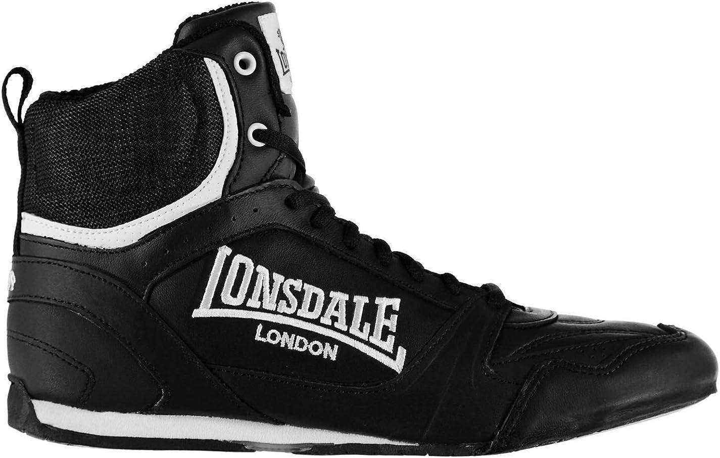 Lonsdale Herren Contender Boxschuhe Boxen Stiefel Sport Turnschuhe Schuhe