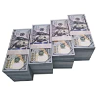 Movie Prop Money Full Print 2 Sided, Play Money One Stack 100 pcs 100 Dollar Bills for Movies,Kids and Party