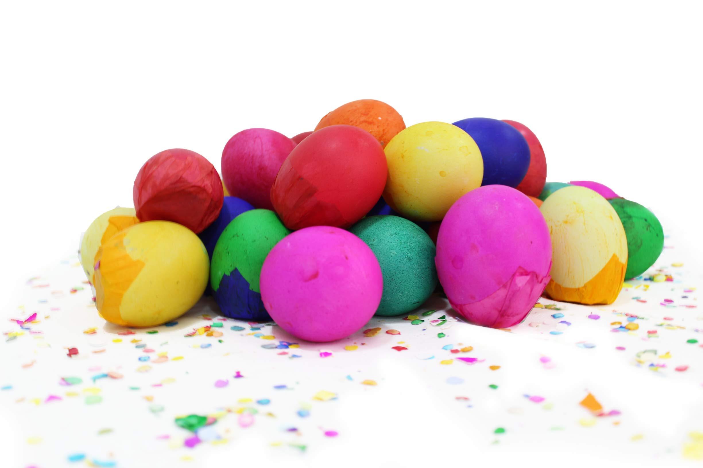 Confetti Eggs Cascarones, Multicolored, 240 Count, Party Game for Easter, San Antonio Fiesta Week, Cinco de Mayo or Birthday Party by Pinatas (Image #4)