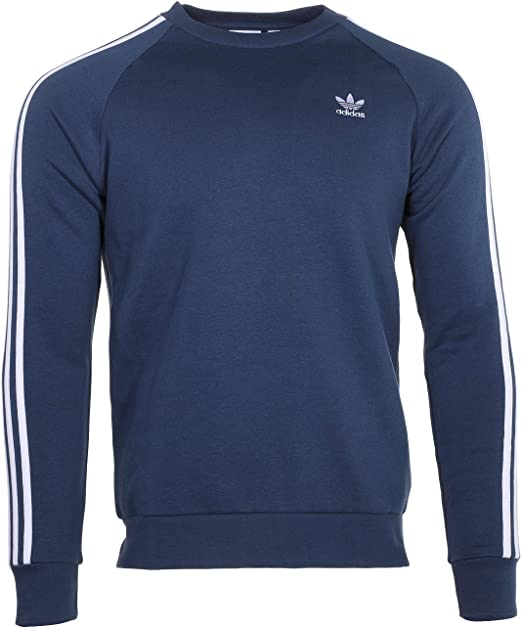 Navy Blue jumper adidas Originals Trefoil Crew Sweatshirt in Legend Marine